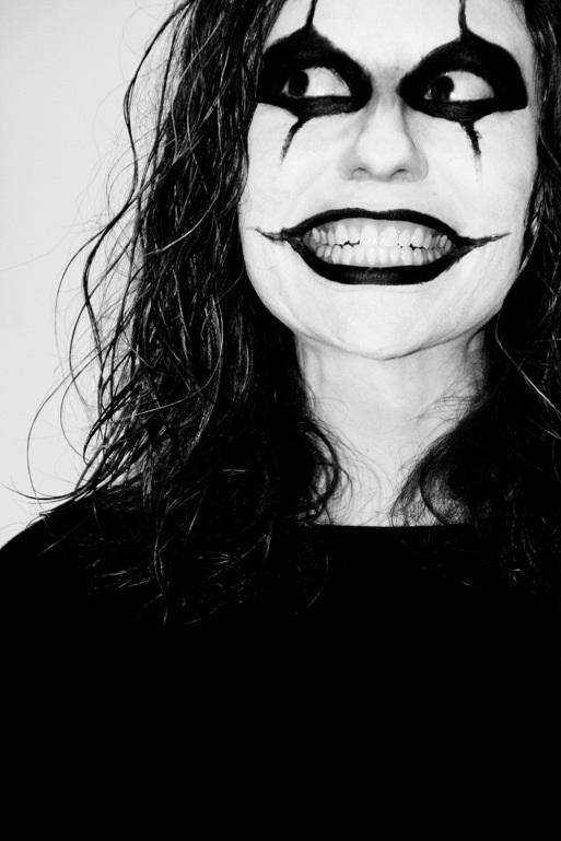 Black Halloween Makeup
