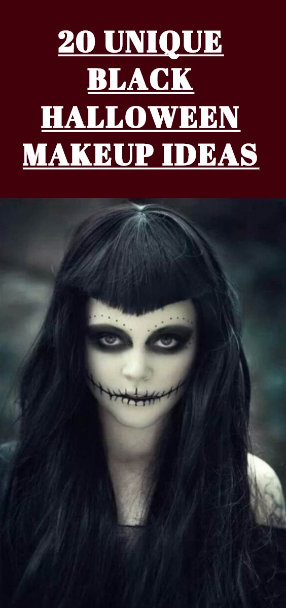 Black Halloween Makeup Ideas