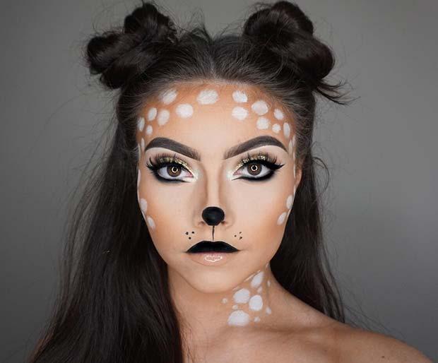 Deer Halloween Makeup