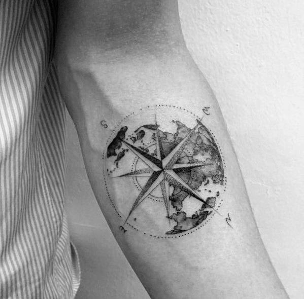 Compass Tattoo Designs