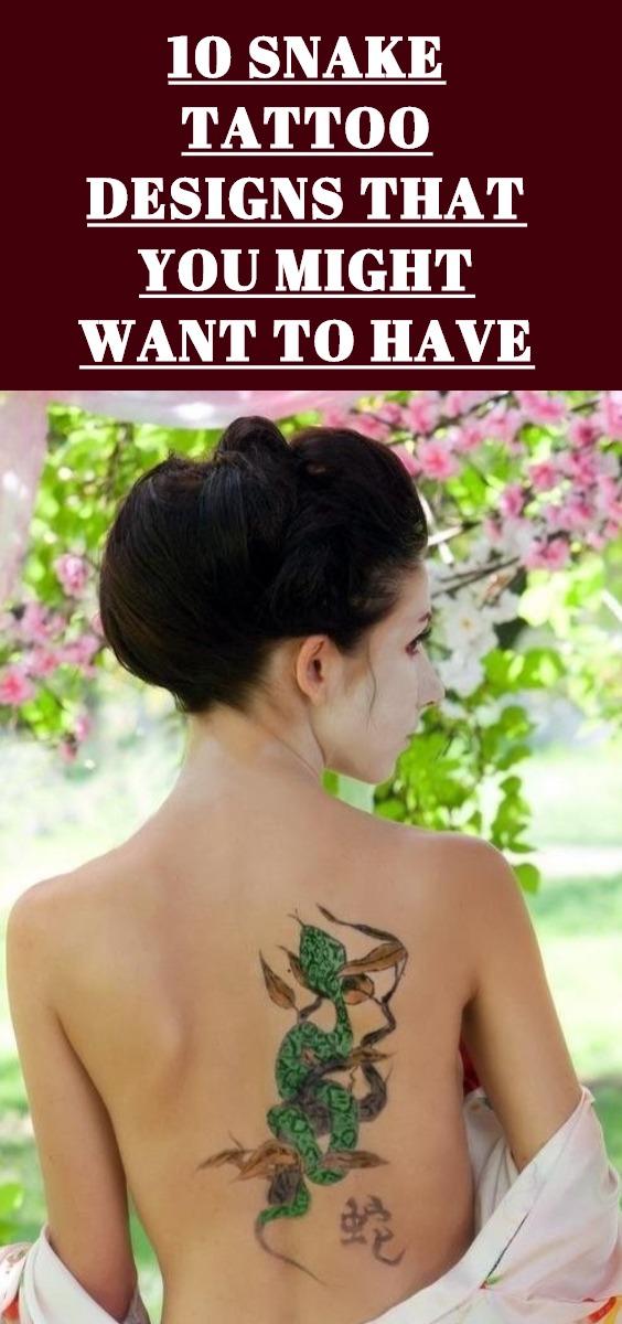 Snake Tattoo Design Ideas