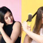 FOXYBAE Rose Gold vs DRYBAR The Brush Crush Straightening Brush