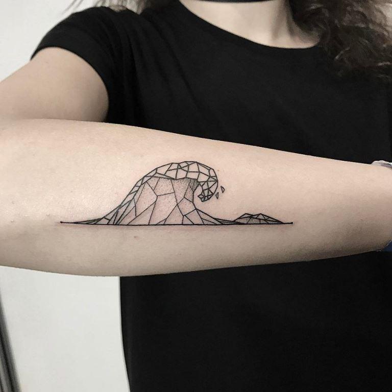 Wave Tattoo Design Ideas