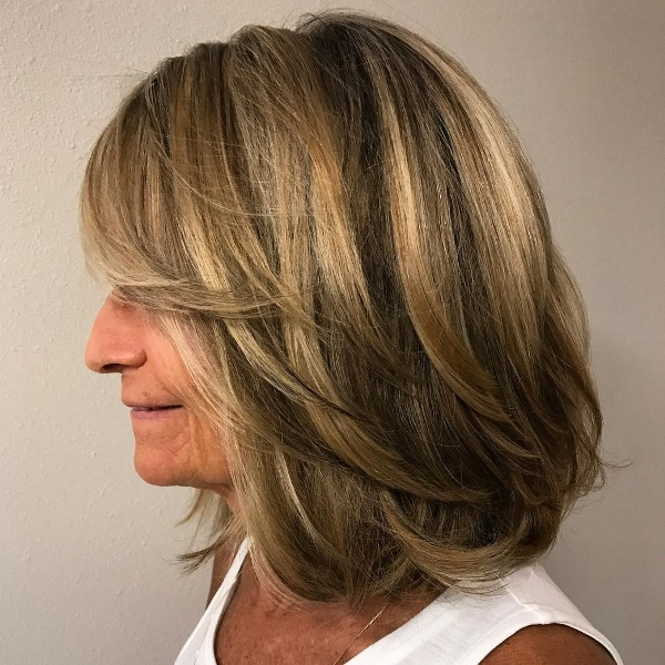 Layered Hairstyle For Women Over 50