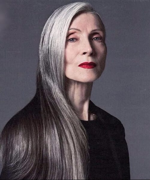 Straight Hairstyles for Women Over 50